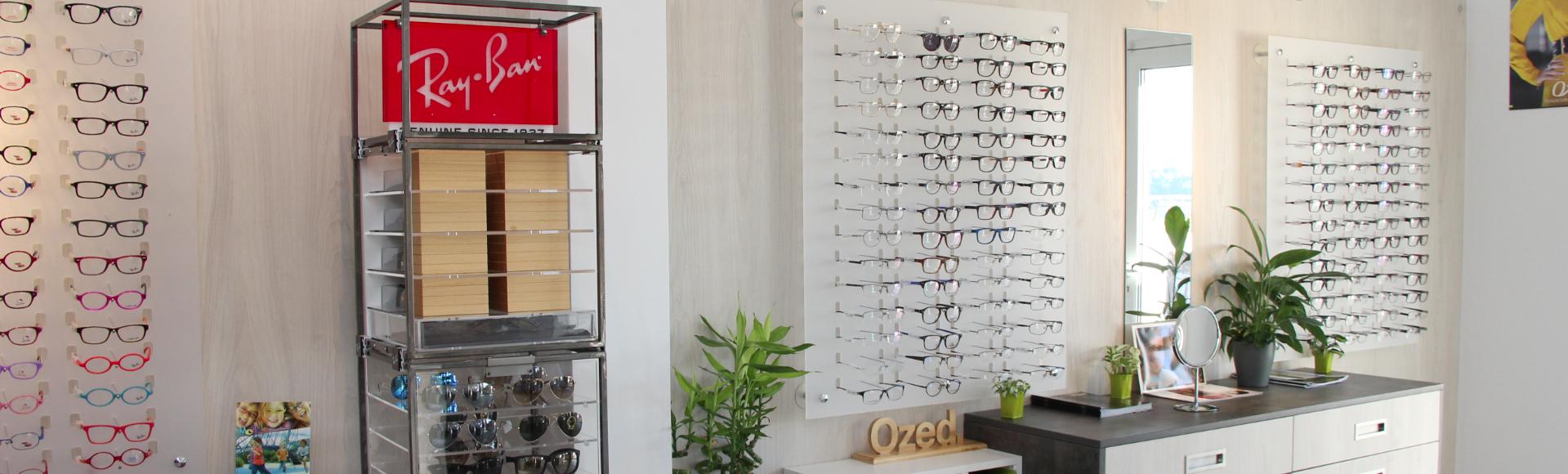 Un large choix de lunettes...